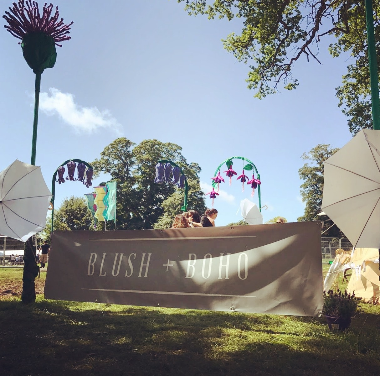 Blush + blow photography area